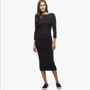 James Perse Women's Black Low Back Skinny Dress